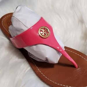 Tory Burch Cameron Patent Leather Sandals